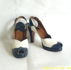 b0ac827431a7b2 1940s spectator peep toe shoes 1940s Shoes