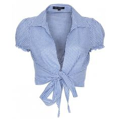Blue Inc Woman Womens Blue Gingham Crop Blouse Crop Blouse, Crop Shirt, Blue Blouse, Gingham Shirt, Blue Gingham, Gingham Check, Trendy Outfits, Fashion Outfits, Cute Outfits