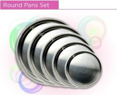 Round Cake Pan Set 4-6-8-10-12 *** Unbelievable offers are coming! : Baking pans