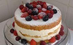 Kroger MyMagazine - The Elegant Naked Cake Bolos Cake Boss, Bolos Naked Cake, Food Cakes, Cupcake Cakes, Sweet Recipes, Cake Recipes, Strawberry Shortcake Cheesecake, Baker Cake, Berry Cake