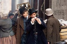 "From the movie ""Sherlock Holmes: A Game of Shadows"", notice those mens' top hats Holmes and Dr.Watson were wearing throughout the movie."