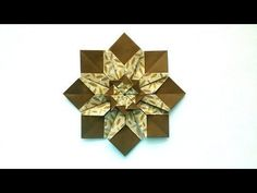 This video shows an instruction on how to fold an origami Christmas wreath. This is an origami poinsettia Christmas wreath. ■you will need Origami or wrappin. Origami 3d Star, Origami Owl Lanyard, Origami And Kirigami, Origami Bookmark, Origami Folding, Useful Origami, Diy Origami, Origami Paper, Origami Books
