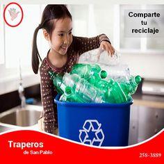 Es muy importante enseñar a los niños desde muy temprana edad,de reciclar los residuos, ya que en un futuro serán ellos los principales responsables de cuidar nuestro planeta y así fomentar un ecosistema muchísimo mas adecuado para todos. Traperos De San Pablo, contribuye con esta propuesta recogiendo su reciclaje, sin ningún costo, en diferentes zonas de Lima. Contáctenos : 258-3889 / 258-5262 RPC: 943520010 Email: donaciones@traperosdesanpablo.org http://www.traperosdesanpablo.org