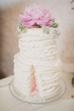 54 Cute Ruffle Wedding Cakes To Excite You | HappyWedd.com