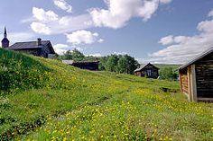 Utsjoki church and church cabins, Lapland Finland - Utsjoen kirkkotuvat, Photo: Toni's pictures Lapland Finland, Summer Days, House Styles, Barns, Pictures, Houses, Photos, Homes, Barn