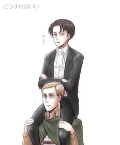 """rivialle-heichou: """" """"Not bad"""" Lena_レナ/ 45話の兵長 With permission to repost [please do not remove source] """""""