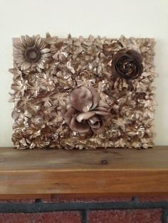 Spray paint flowersberries in rose gold copper sarah chintomby i glued fake flowers to a canvas and spray painted it metallic mightylinksfo