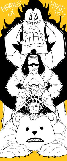Trafalgar law shachi and penguin 39 don 39 t insult our - Jean bart one piece ...