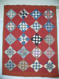 66 x 86 die meisten dieser Quilt-Top wird von Hand zusammengesetzt, aber die Grenzen wurden maschinell angebracht. Es wird von Hand gesteppt und