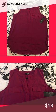 Magenta sleeveless blouse Size M Fuisha/Magenta blouse a.n.a Tops Blouses