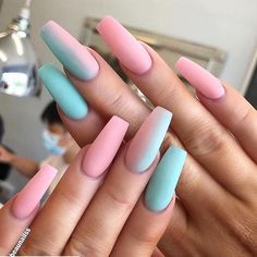 60 Prettiest And Stylish Summer Nail Designs nail art designs, colorful nail art design summernails nailart manicure is part of nails - nails Summer Acrylic Nails, Best Acrylic Nails, Nail Summer, Coffin Nails Designs Summer, Summer Wear, Coffin Nail Designs, Acrylic Nail Designs For Summer, Holiday Acrylic Nails, Colored Acrylic Nails
