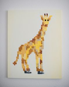 where could I paint a giraffe like this in my house?