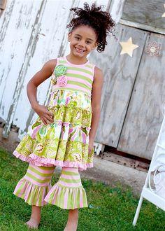 Mustard Pie Clothing - McKenna Dress in Rainbow