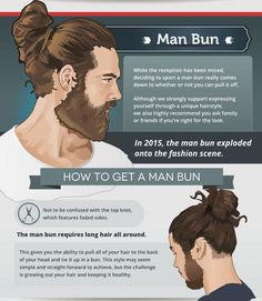 The 5 Most Popular Haircuts For Men (and How To Style Them) Man Bun Undercut, Man Bun Haircut, Man Bun Hairstyles, Trendy Mens Hairstyles, Haircuts For Men, Trendy Hair, Hair And Beard Styles, Long Hair Styles, Brow Growth Serum