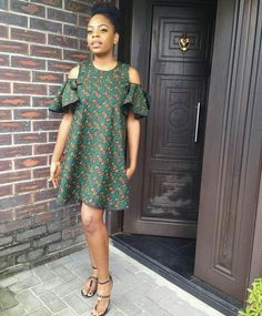 526b6c51c77eb What s more fun than to join the trending cold shoulder ankara outfit