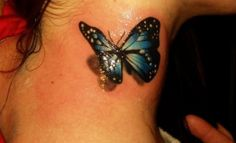 3D Tattoos for Women | 3d butterfly tattoo for women