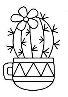 Embroidery Patterns, Hand Embroidery, Cactus Drawing, Easy Doodle Art, Simple Doodles, Cacti And Succulents, Art Plastique, String Art, Rock Art