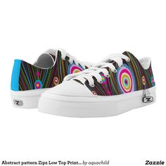 Abstract pattern Zipz Low Top Printed Shoes