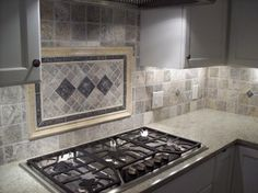 "Silver Travertine 4x4"" tile                                                                                                                                                                                 More"