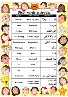 First Words/Numbers in Arabic Poster