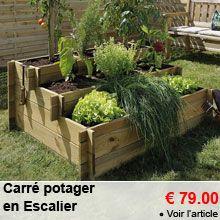 Le potager en carr s d 39 andr eve un exemple de potager en carr s sur www - Carre potager castorama ...