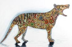 Hey, I found this really awesome Etsy listing at https://www.etsy.com/listing/200963396/collage-thylacine-18-x-12-fine-art-print