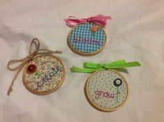 Inspiring words embroidered on fabric