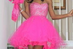 Beautiful hot pink prom dress