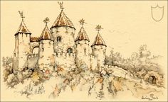 Sleeping Beauty Castle - Tales of the Efteling by Martine Bijl and Anton Pieck