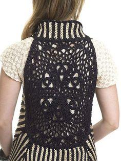 CrochetKim Free Crochet Pattern: Two-Tone Vest @crochetkim