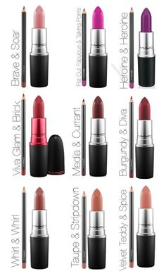 MAC lipstick and liner combos