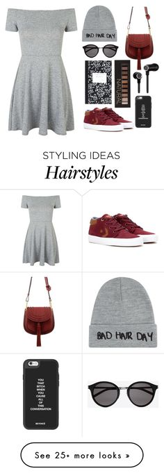 """""""converse 3"""" by rputriwidyastri on Polyvore featuring Topshop, Converse, Chloé, Yves Saint Laurent, Local Heroes, Dot & Bo, Master & Dynamic, Forever 21 and converse"""