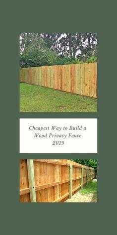 Günstigster Weg zum Bau eines Holz-Sichtschutzzauns 2019 – How To Build A Fence Cheap Privacy Fence, Privacy Fence Designs, Diy Fence, Backyard Fences, Wooden Fence, Pallet Fence, Backyard Projects, Backyard Landscaping, Yard Privacy