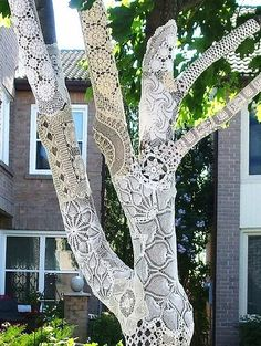 Doily covered tree
