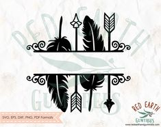 Discover recipes, home ideas, style inspiration and other ideas to try. Monogram Decal, Monogram Frame, Diy Frame, Arrow Feather, Arrow Svg, Silhouette Projects, Silhouette Studio, Silhouette Cameo, Free Shapes