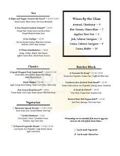 Our Portsmouth Nh Restaurant Week Menu  Epoch Restaurant Menus