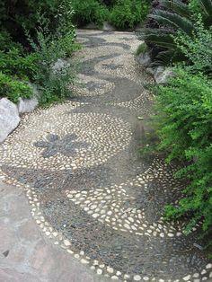 Beautiful path at Changfeng Park, China