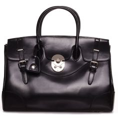 ROUVEN Black & Silver ELLE 40 Tote Leder Bag Handtasche Blogger