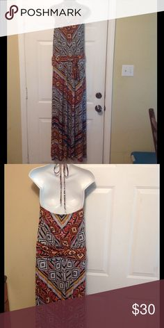 New Directions halter sundress New Directions halter sundress. Super comfortable! Size 8 (Medium)! Great colors new directions Dresses Maxi