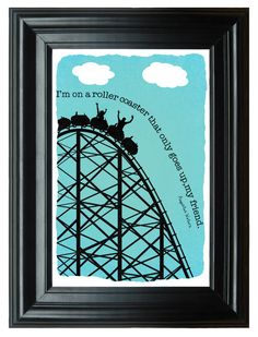 "The Fault in Our Stars Illustrated Roller Coaster Quotation Art Print---11""x17"" on Etsy, $6.00"