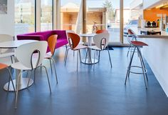 The new office for Stride Treglown in Cardiff with Globus chairs and Onda stools from STUA.