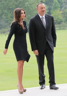 President Ilham Aliyev of Azerbaijan and wife Mehriban Aliyeva; for count and countess paired scene