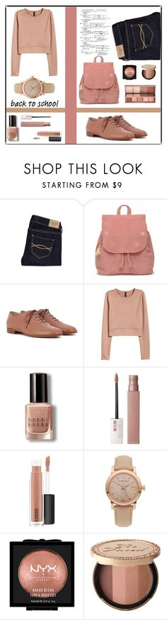 """Inspiration-school"" by puljarevic ❤ liked on Polyvore featuring Abercrombie & Fitch, TOMS, Gianvito Rossi, H&M, Bobbi Brown Cosmetics, Maybelline, MAC Cosmetics, Burberry, NYX and Too Faced Cosmetics"