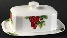 vintage royal doulton china patterns | Royal Doulton Vintage Grape Square Butter Dish 10120544 | eBay