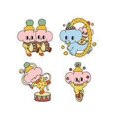 Circus projects | Фотографии, видео, логотипы, иллюстрации и брендинг в Behance Designs To Draw, Behance, Hello Kitty, Character Design, Doodles, Kawaii, Stickers, Comics, Wallpaper