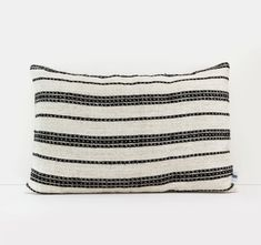 Kilim pillow cover with Black stripes - Beige floor pillow - Bohemian pillow - Vintage kilim rug pillow - 20x30 inches - Boho throw pillow