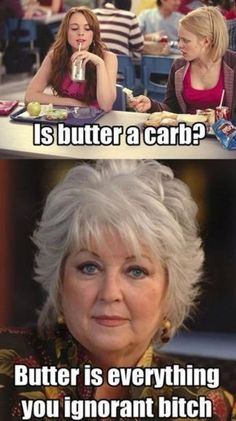 "I LOVE PAULA DEEN! Its funny how I can actually ""hear"" Paula Deen say that. If u have seen the movie mean girls u get it.I am pin what I want this a free world. Mean Girls Meme, Mean Girls Day, Paula Deen, Look At You, Just For You, Doug Funnie, Youre My Person, Girl Memes, Pause"