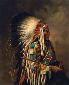 Indian Chief Painting - Nez Perce Chief by Edgar S Paxson Native American Paintings, Native American Pictures, Native American Beauty, Native American Artists, American Indian Art, Native American History, Indian Paintings, Native American Indians, American Symbols