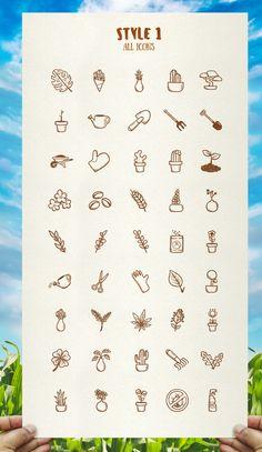 Plant ang Garden - Hand Drawn icons by Mar1kOFF on @creativemarket $7.00