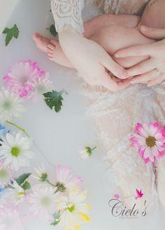 Milk bath Breastfeeding Photos